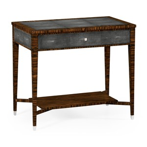 Ebony and Anthracite Shagreen Sofa Table