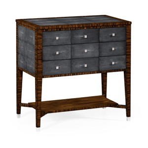 Ebony and Anthracite Shagreen Nine Drawer Chest