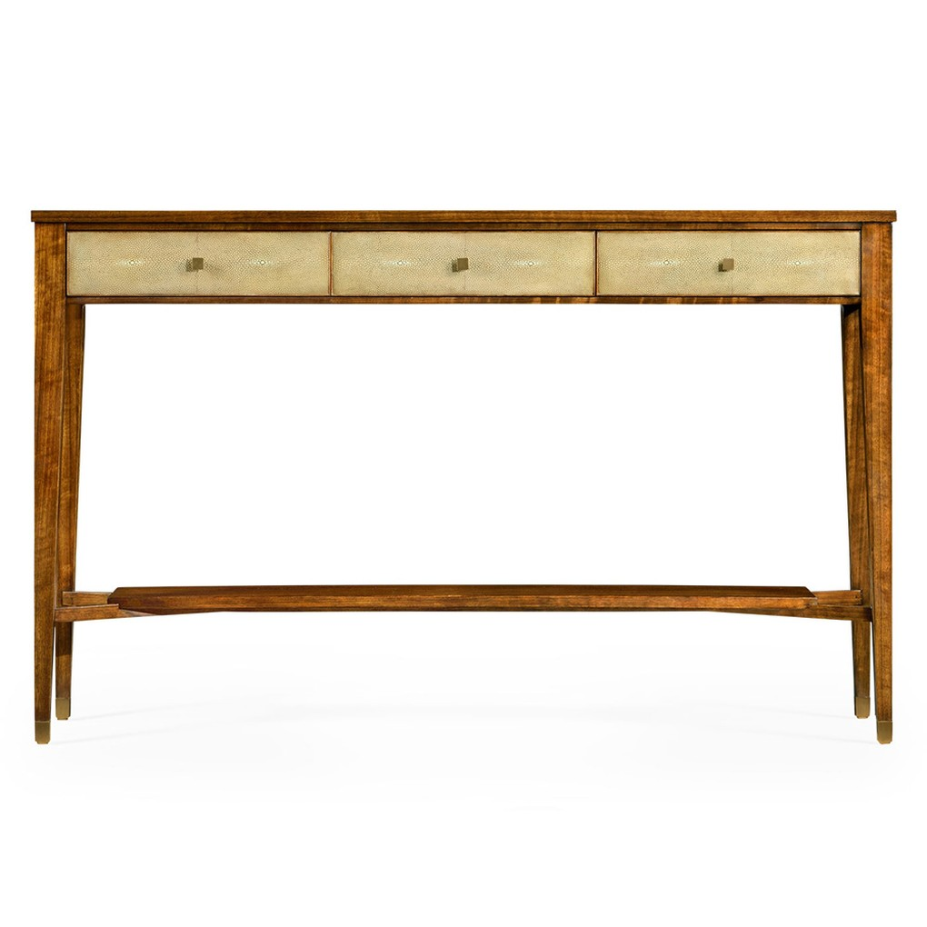 Ivory Shagreen Console Table with Drawers | Jonathan Charles