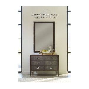 Art Deco Style Faux Macassar Ebony Mirror | Jonathan Charles