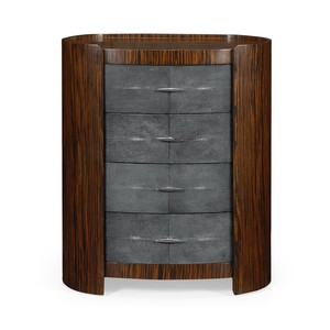 Shagreen Oval Bedside Chest | Jonathan Charles