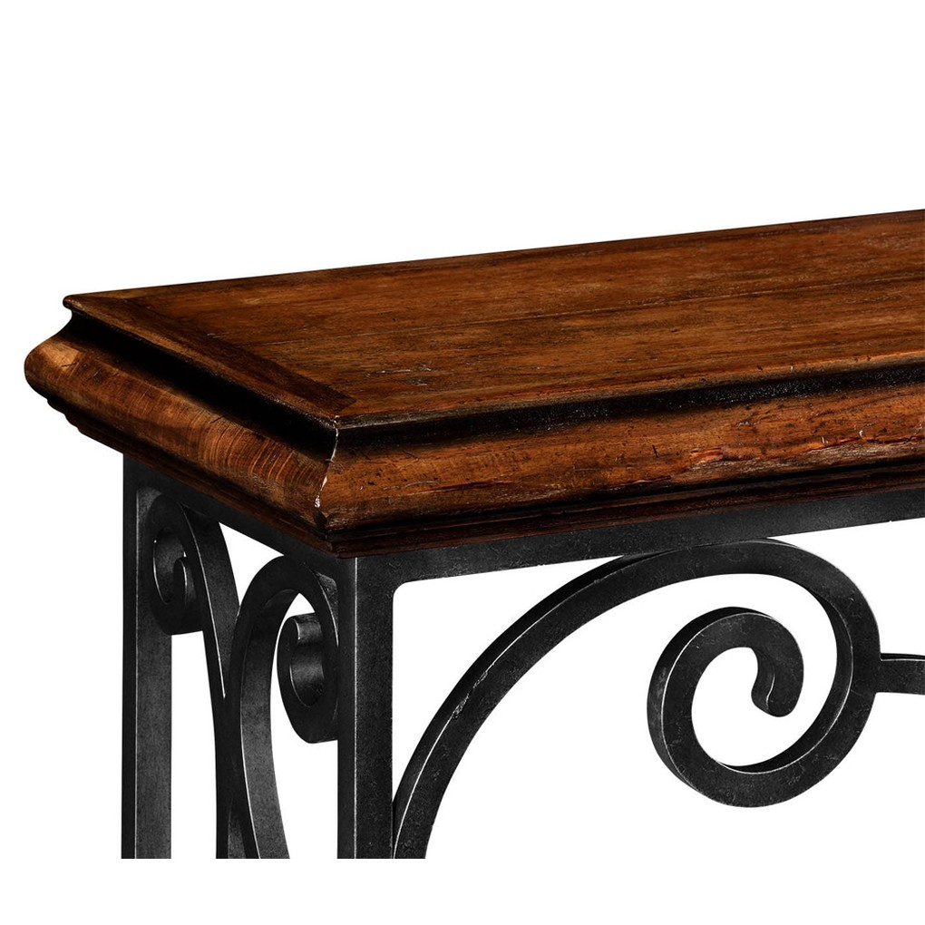 Rectangular Rustic Walnut Console Table | Jonathan Charles