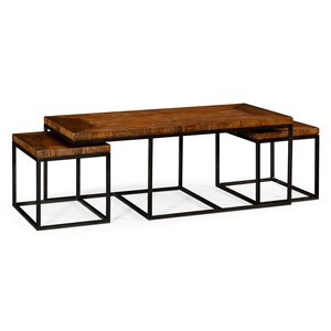Rectangular Coffee Table in Rustic Walnut | Jonathan Charles