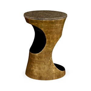Emperor Gold Round Lamp Table | Jonathan Charles