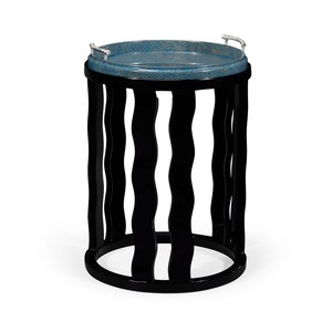 Smoky Black Side Table with Reversible Top | Jonathan Charles
