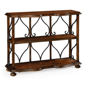 Two-Tier Bookcase in Rustic Walnut | Jonathan Charles