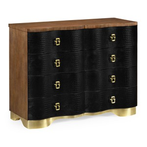 Black Faux Crocodile Skin Chest of Drawers | Jonathan Charles