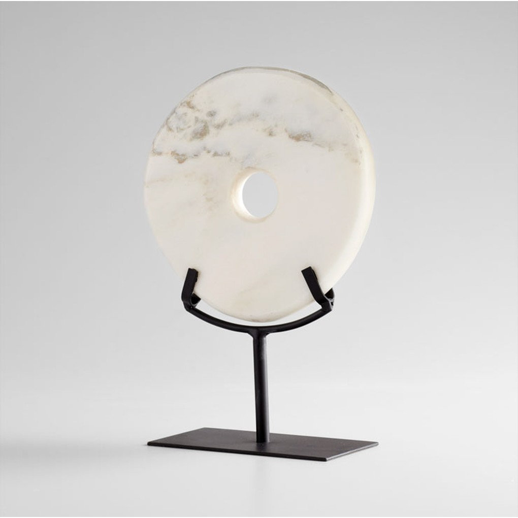 Small White Disk on Stand | Cyan Design