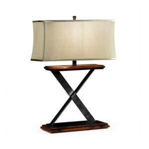 Artisan Table Lamp in Rustic Walnut
