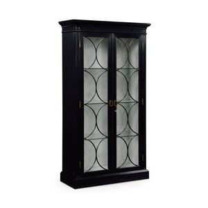 Formal Black Painted Display Cabinet