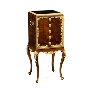 Flatware Cabinet with Gilt Carved Detailing