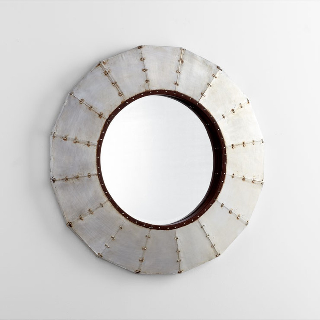 Steel Wheel Mirror | Cyan Design