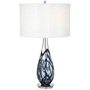 Indigo Swirl Art Glass Table Lamp | Pacific Coast Lighting