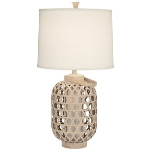Bamboo Basket Table Lamp