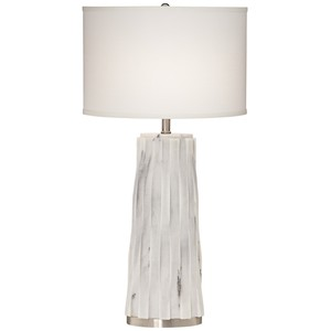 White Faux Marble Table Lamp | Pacific Coast Lighting