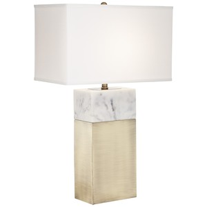 Block Faux Marble Table Lamp | Pacific Coast Lighting