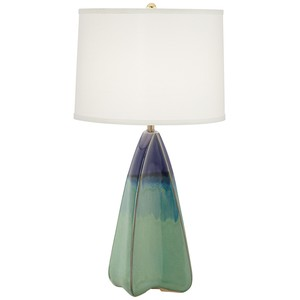 Four Side Green and Blue Table Lamp | Pacific Coast Lighting