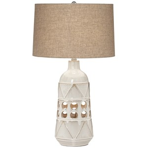 Tribal Geo Ceramic Table Lamp | Pacific Coast Lighting