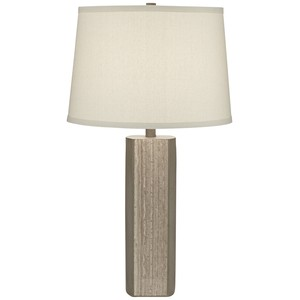 Cement and Faux Agate Table Lamp