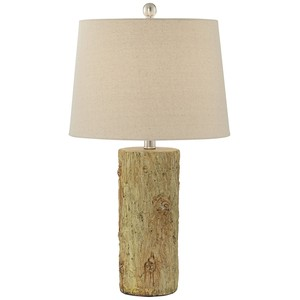 Faux Tree Bark Table Lamp