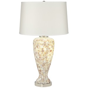 Mother of Pearl Table Lamp with Nightlight