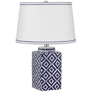 Kie Diamond Blue Pattern Table Lamp | Pacific Coast Lighting