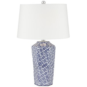 Kie Blue Ceramic Table Lamp