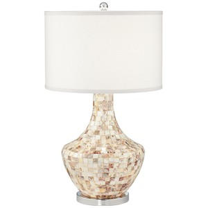 Mother of Pearl Vase Lamp with Nightlight