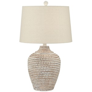 Resin Hammered Lamp