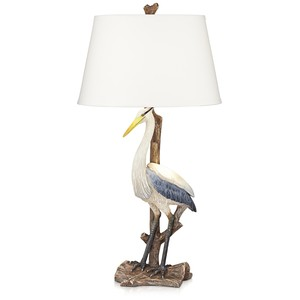 Standing Heron Table Lamp with Nightlight