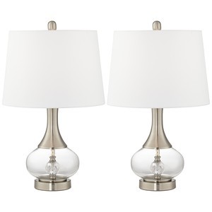 Glass and Metal Table Lamps (Set of Two) | Pacific Coast Lighting