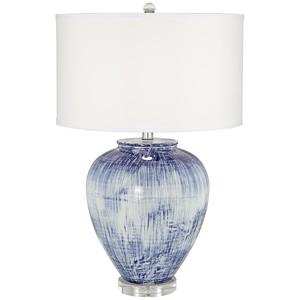 Big Blue Ceramic Vase Lamp   Pacific Coast Lighting