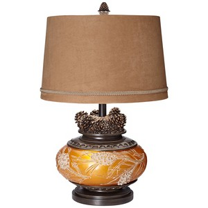 Amber Pincone Table Lamp