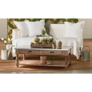 Primitive Zinc Top Coffee Table | Magnolia Home