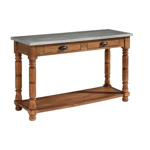 Primitive Zinc Top Console Table | Magnolia Home