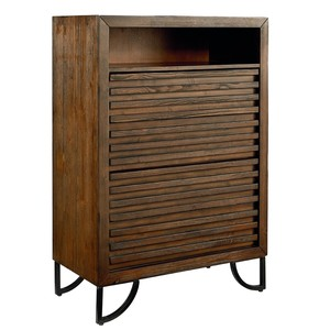Four Drawer Stacked Slat Chest