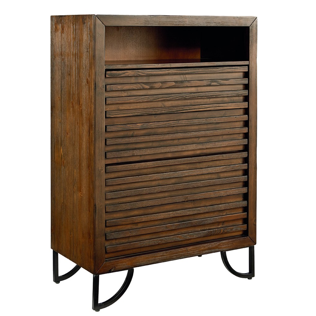 Four Drawer Stacked Slat Chest | Magnolia Home