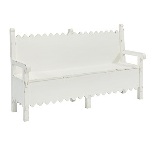 Scalloped Bench with Storage | Magnolia Home