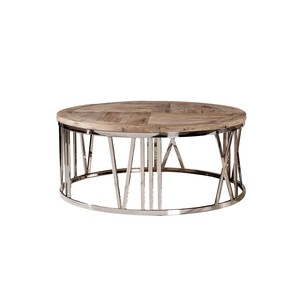Round Stainless Steel Coffee Table