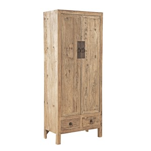 Old Elm Door Armoire