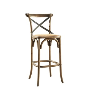 Bentwood Barstool with Metal Back | Furniture Classics