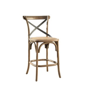 Bentwood Counterstool with Metal Back