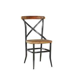 Metal and Wood Cross Chair | Furniture Classics