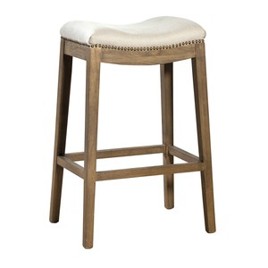 Linen Backless Barstool | Furniture Classics