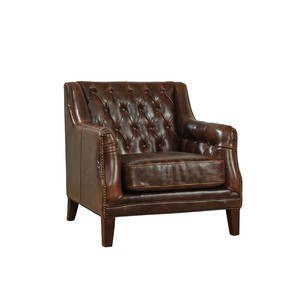 Tufted Leather Lounge Chair