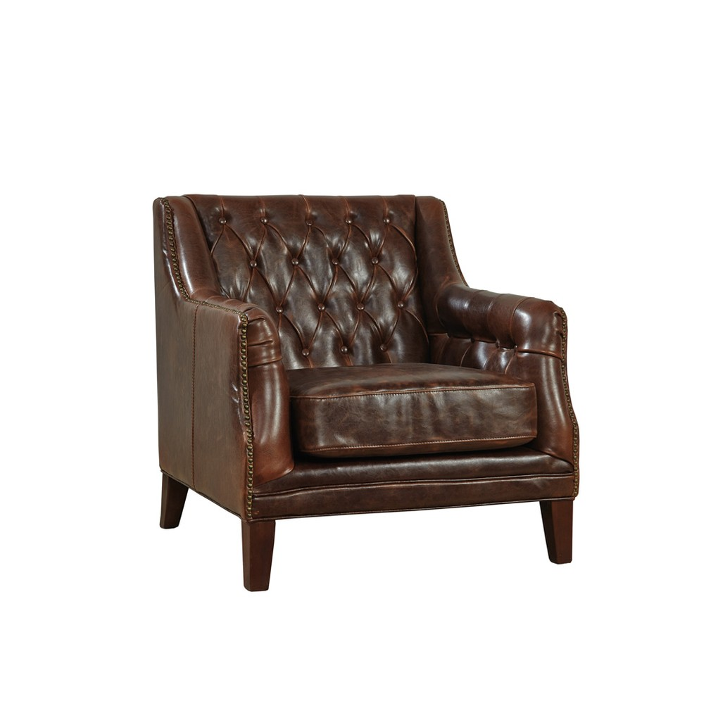 Tufted Leather Lounge Chair | Furniture Classics