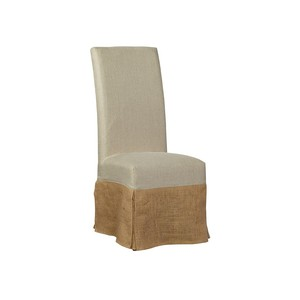 Burlap Slip Covered Parsons Chair | Furniture Classics