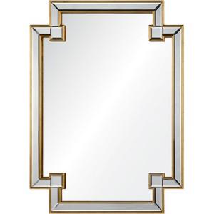 Burnished Gold Leaf Mirror | Mirror Image Home