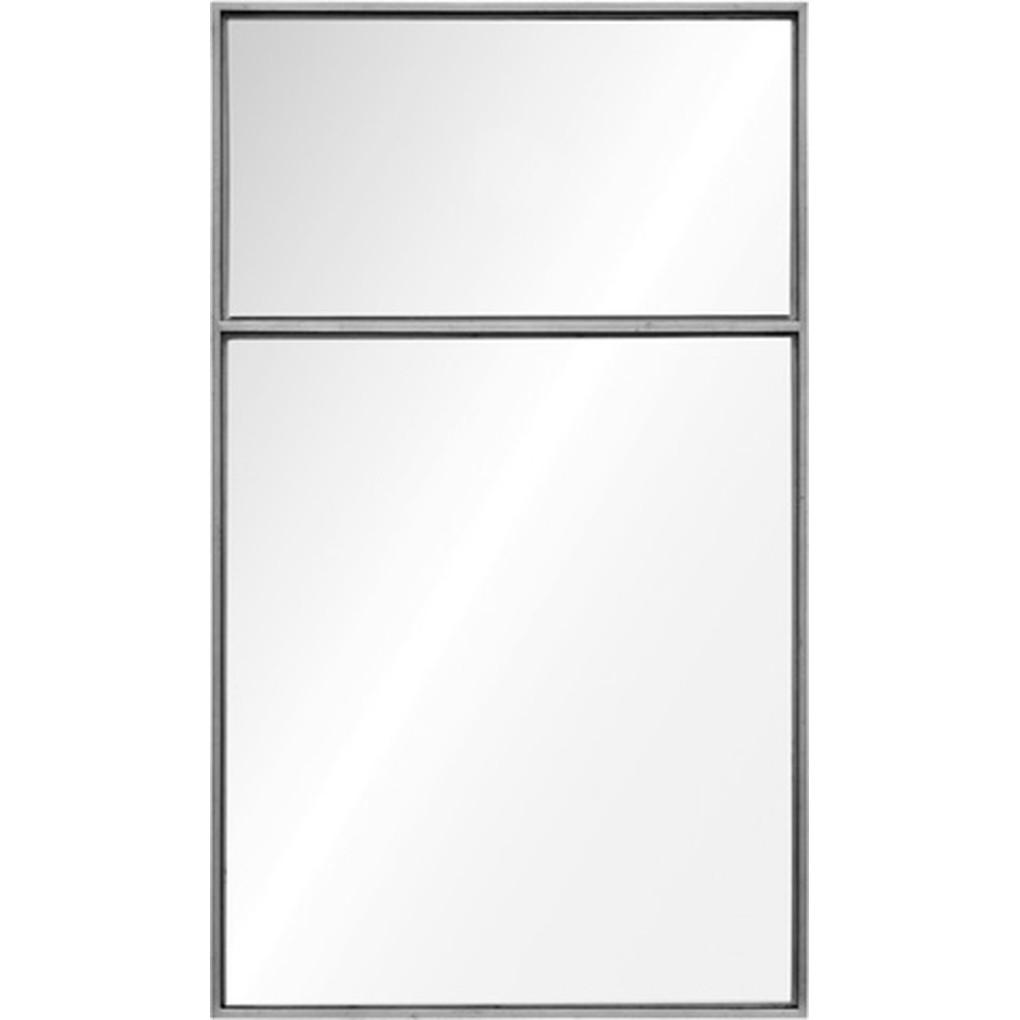 Distressed Silver Leaf Trumeau Mirror | Mirror Image Home