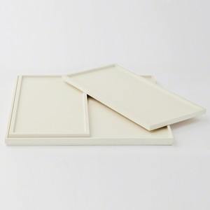 Set of Three Nesting Trays in Ivory Lacquer | Global Views